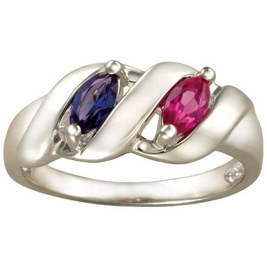 Mother's Ribbon Ring with 2-4 Marquise Stones: Melodic