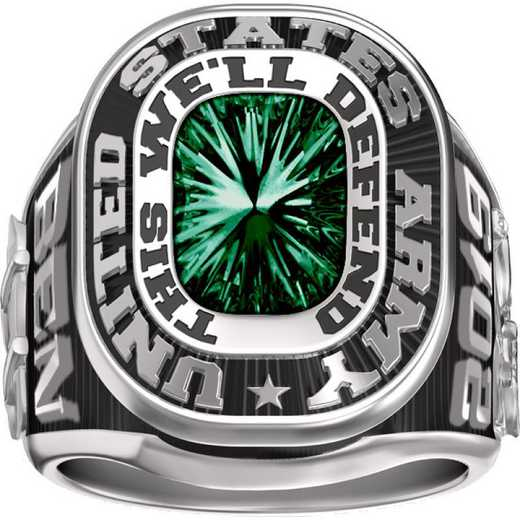 Men's Dual Rail Military Service Ring