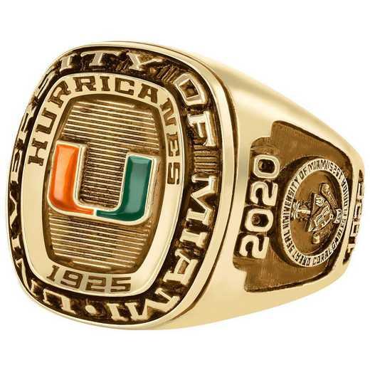 University of Miami Men's Legend Ring