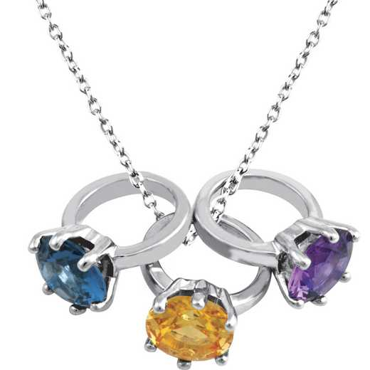 Mini Ring Pendant with 1-4 ring charms