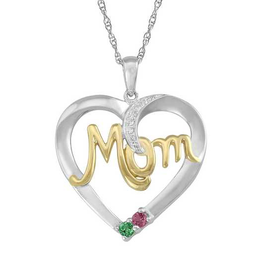 Mom's Love Pendant with 2-6 Stones