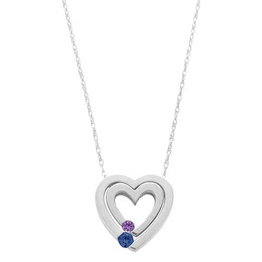 Women's Personalized Nesting Heart Pendant