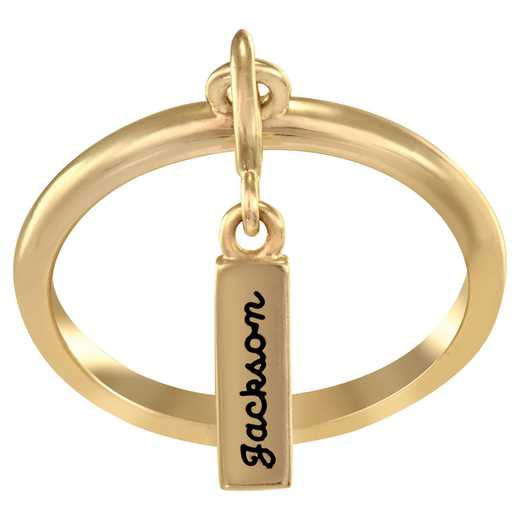 Personalized Hanging Charm Ring: Nomen
