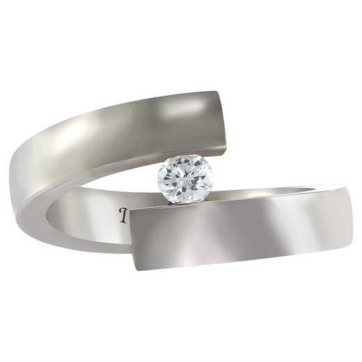 Ladies' Wraparound Promise Band with Cubic Zirconia: Olympia