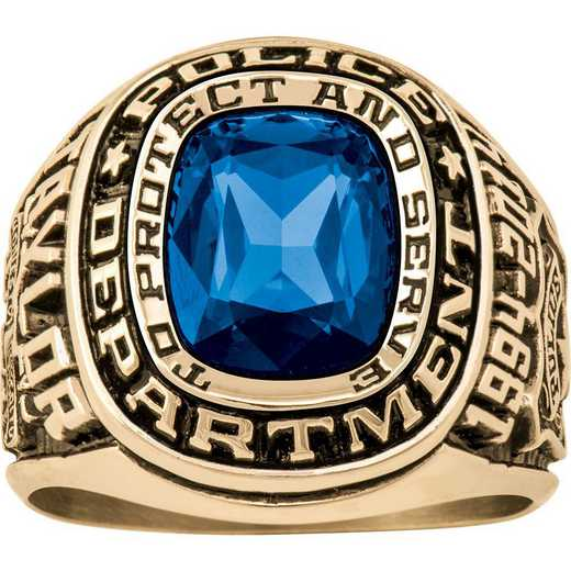 Men's Police Service Dual Rail Ring