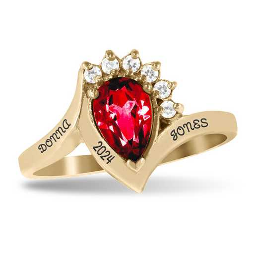 Women's Princess High School Fashion Class Ring