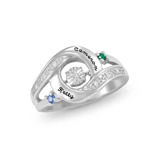 Glimmering Gemstones Prized Ring