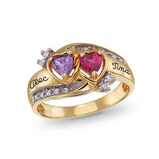 Two-Stone Heart Promise Ring