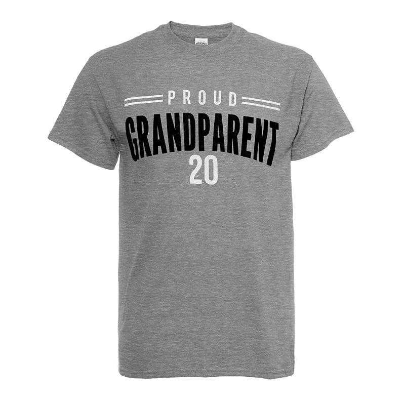 Proud Grandparent 2020 T-Shirt-Heather Grey