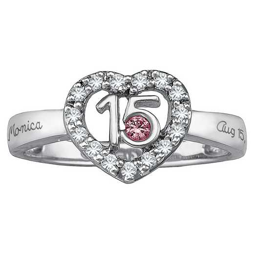 Heart-Shaped Quinceanera Ring
