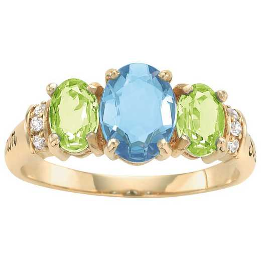Women's Three-Stone Oval-Cut Birthstone Ring: Reverie