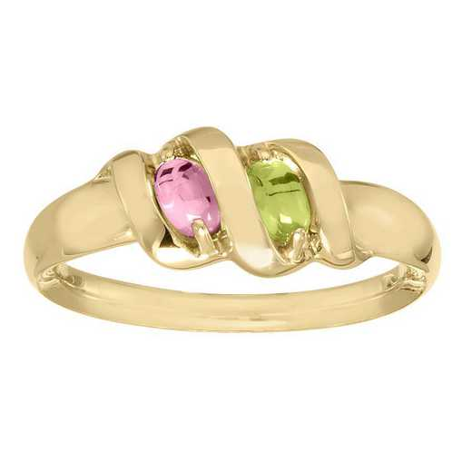 Mother's Personalized Ribbon Ring with 2-7 Stone: Ribbons of Love