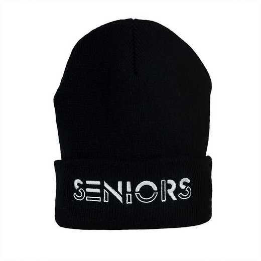 K022308: Hat-Seniors Stencil Beanie