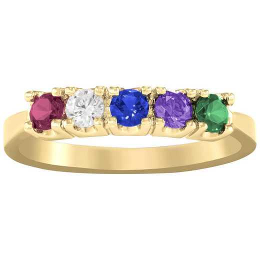 Ladies' Five-Stone Birthstone Ring: Sentiment