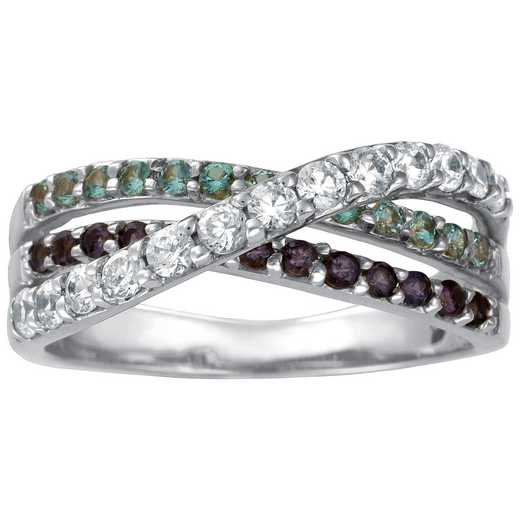 Mother's Three-Stone Crossover Birthstone Ring