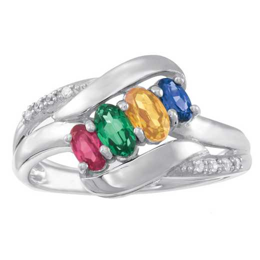 Women's Four-Stone Family Ring: Solace Quick Ship