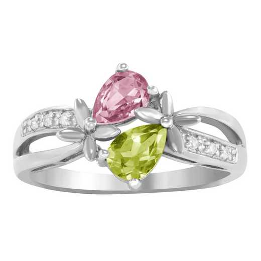 Women's Two Pear-Shaped Stones Promise Ring: Soul Quick Ship