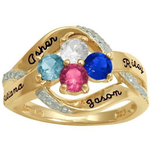 Mother's Personalized Sparkle Ring