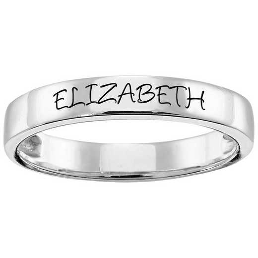 Women's Stack Engraved Stacking Band