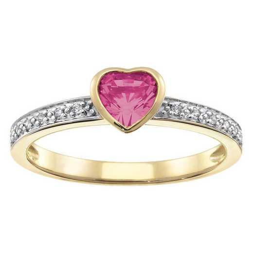 Women's Stackable Band with Heart-Shaped Center Stone