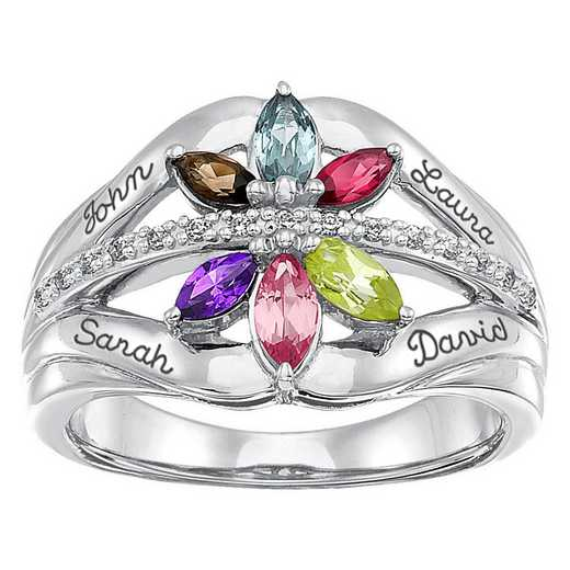 Mother's Personalized Ring with Floral Design – Starcrossed