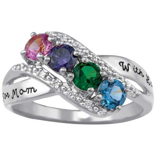 Mother's Four-Stone Family Ring: Starlight