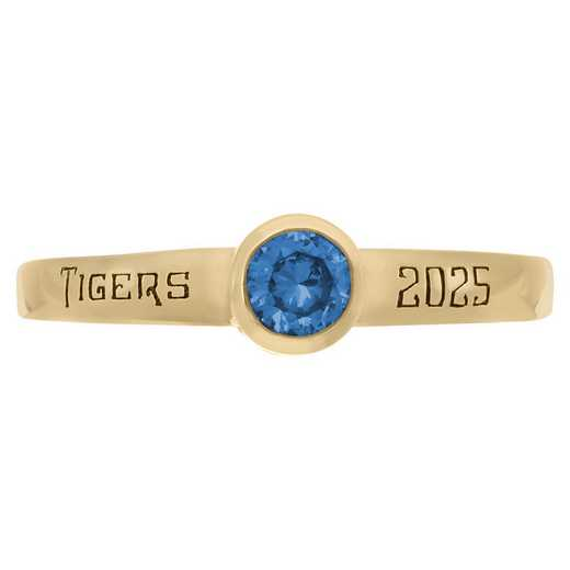 Women's Personalized Stackable Ring with Round Birthstone: Stellar