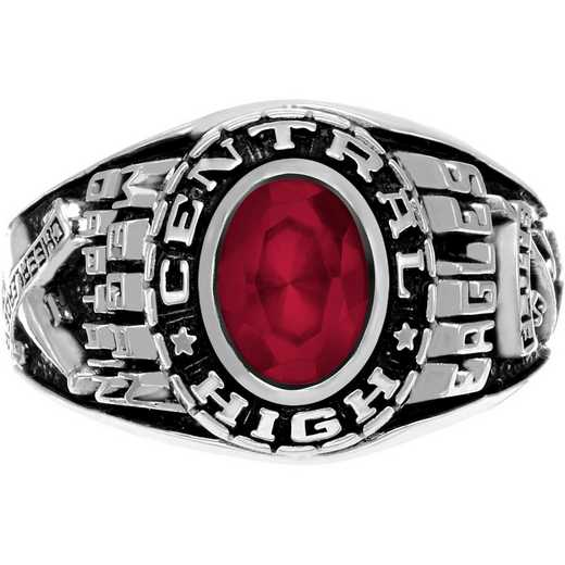 Women's Customizable Large Traditional Class Ring with Oval Stone - Stylist