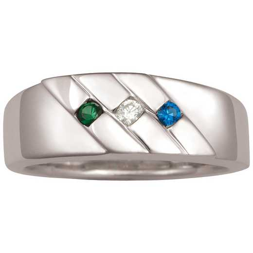 Men's Three-Stone Ring: Summit