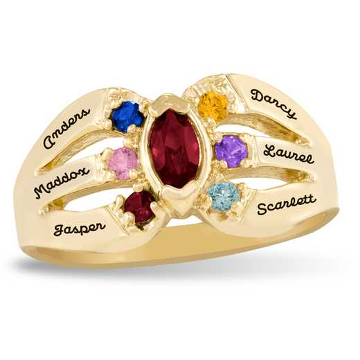 Sunshine Multi-Stone Family Ring
