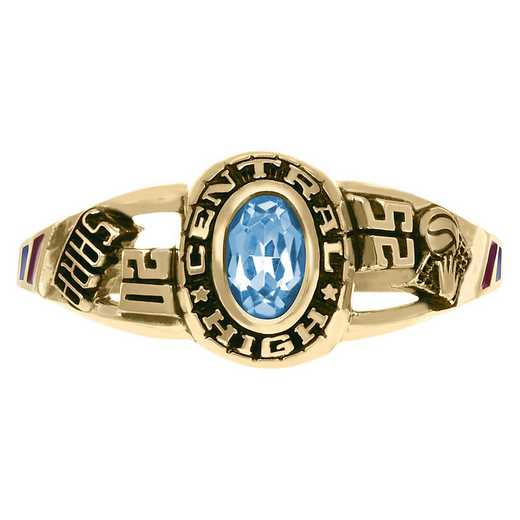 Ladies' Small Traditional Class Ring: Tempo