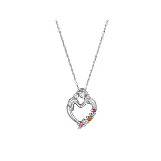Tender Heart Mother's Five-Stone Pendant