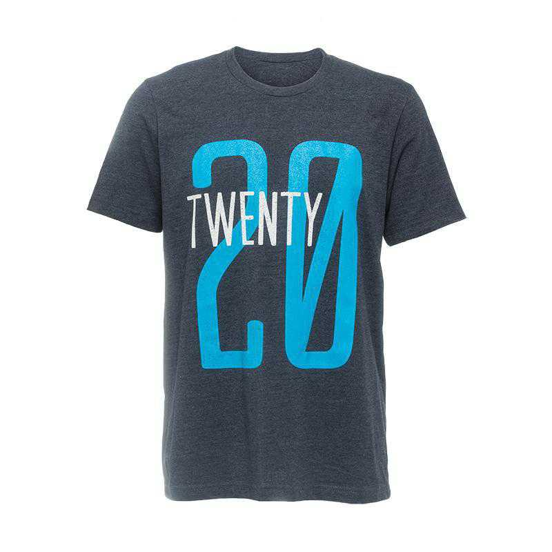 Throwback Jersey 20 Vintage T-Shirt-Heather Blue