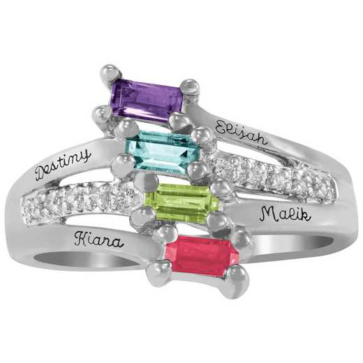 Mother's Four-Stone Baguette Ring: Tia