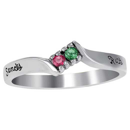 Ladies' Double Birthstone Ring: Timeless Love