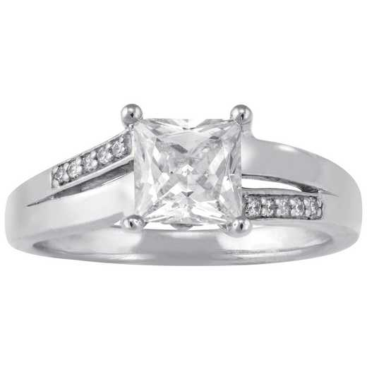Ladies Princess-Cut Promise Ring: Timeless