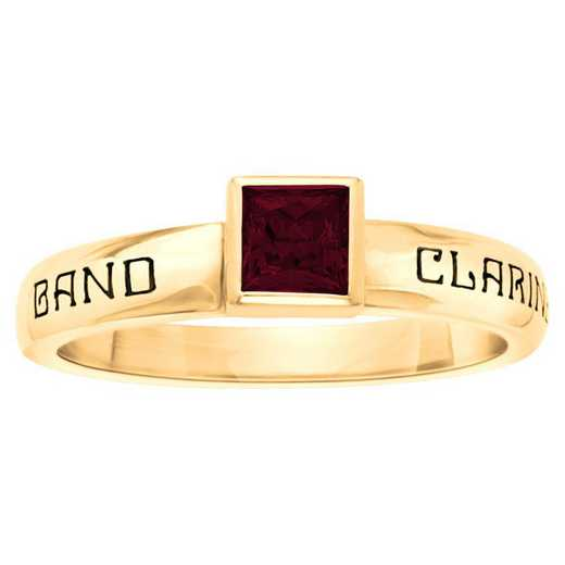 Women's Personalized Stackable Ring with Princess-Cut Birthstone: Treasure