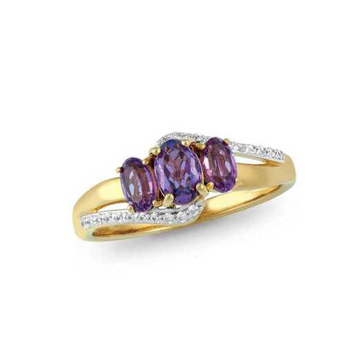 Mother's Oval Birthstone Ring: Trio Quick Ship