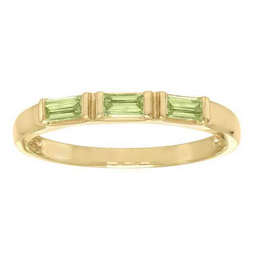 Ladies' Stackable Three Baguette-Cut Stone Ring - Triplet