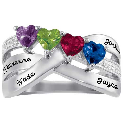 Mother's Four-Stone Family Ring: Marvel