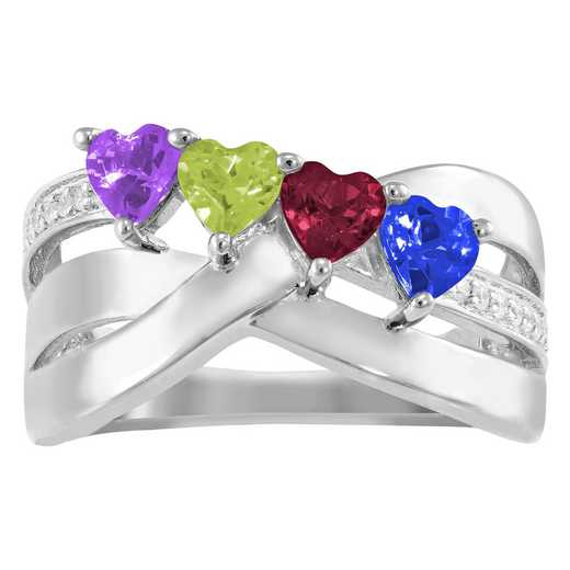 Women's Four-Stone Family Ring: Marvel Quick Ship