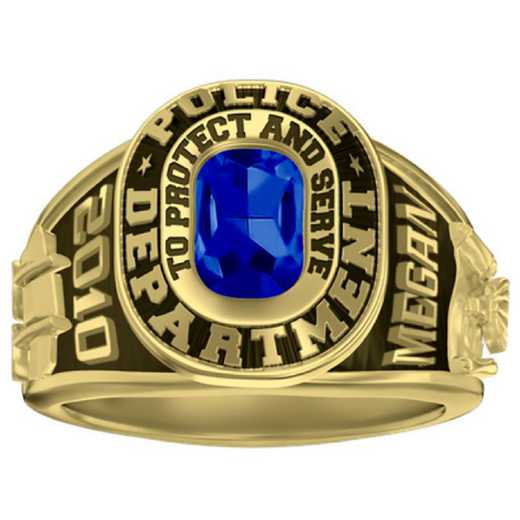 Women's Police Dual Rail Service Ring