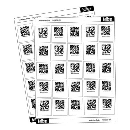 021137: Autograph QR Code Sticker Set