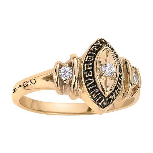 New York University Duet with Diamond and Birthstones Ring