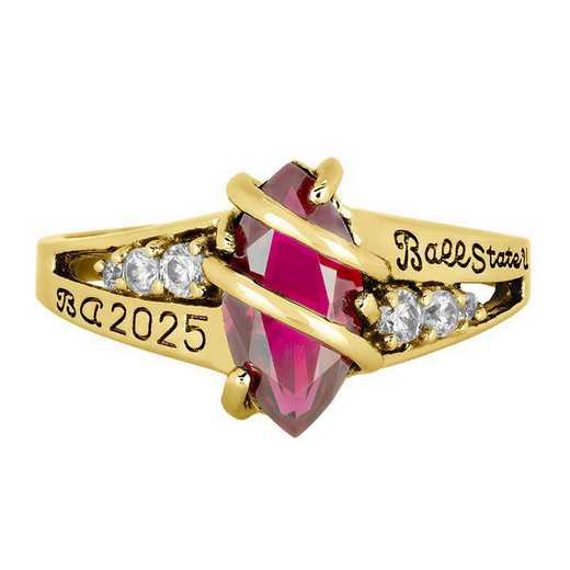 Ball State Women's Windswept College Ring