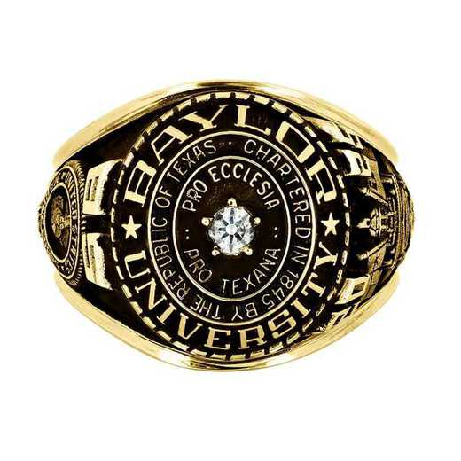 Baylor University Marine Men's Traditional Ring with Point Size Stone