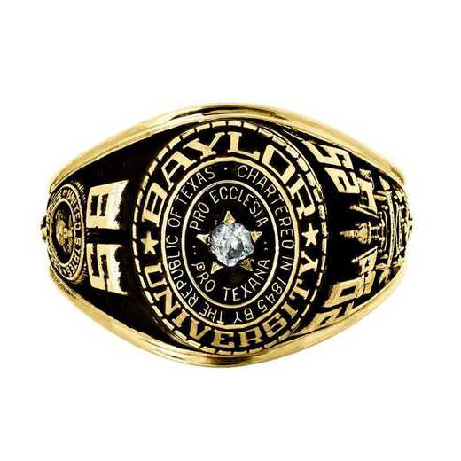 Baylor University Marine Women's Traditional Ring with Point Size Stone