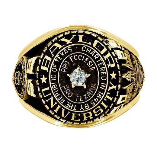 Baylor University Air Force Men's Traditional Ring with Point Size Stone