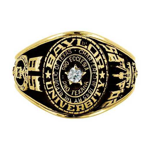 Baylor University Air Force Women's Traditional Ring with Point Size Stone