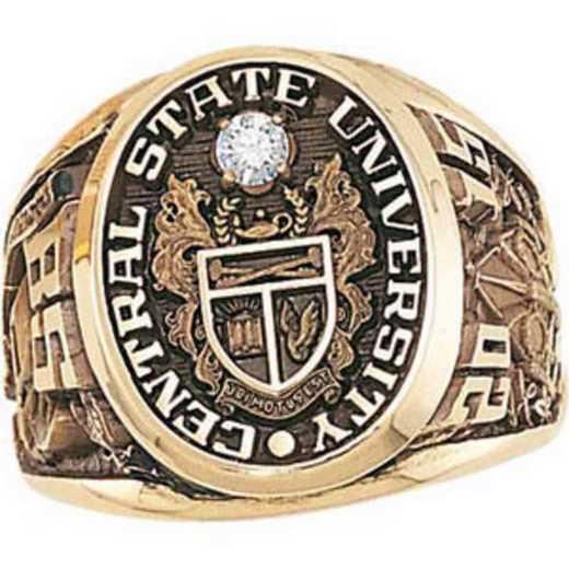 Kean University Men's Collegian Ring with .10CT Diamond